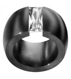 Anell COMA BAGUETTE 15 MM BLACK