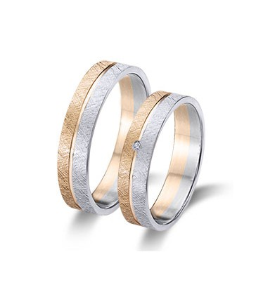 Bicolor wedding rings