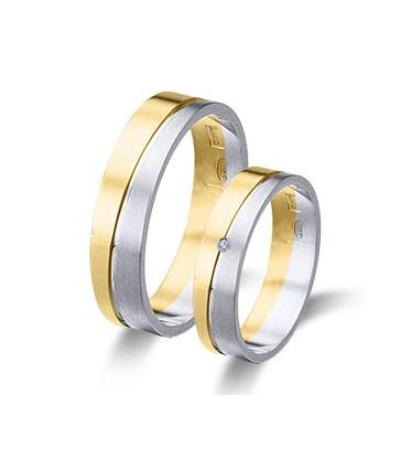 Bicolor wedding rings