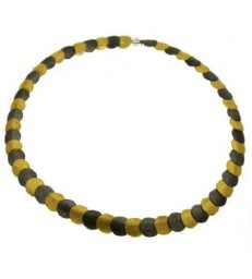 Bicolor Circles Necklace