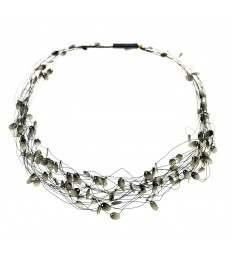 Silver Filaments Necklace