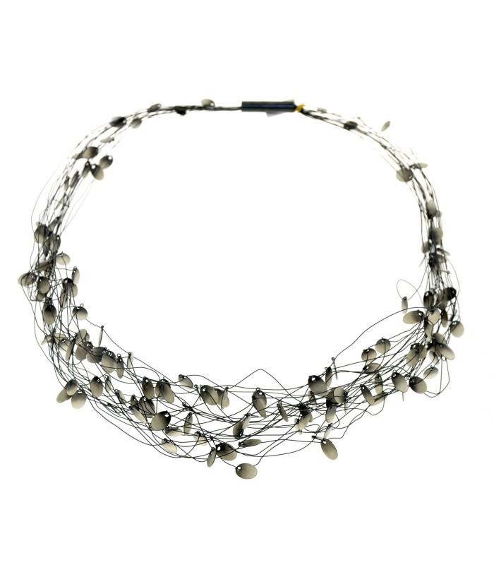 Collar Filaments Plata