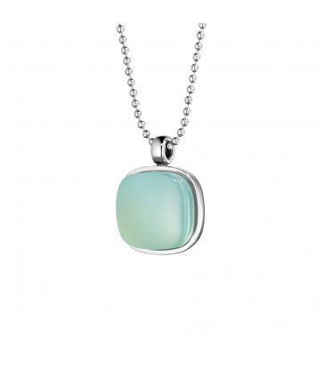 Pendant with chalcedony green