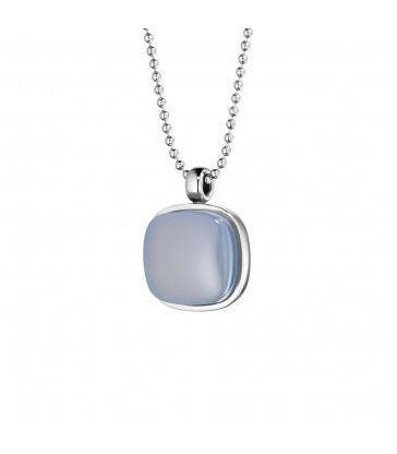 Pendant with chalcedony blue