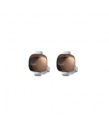 Ear studs with smoky quartz