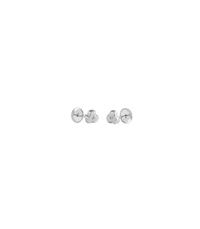95456b8ae1f7 Bebé Trébol Oro Blanco con Diamante
