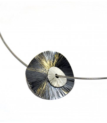 Circles Hammered Necklace