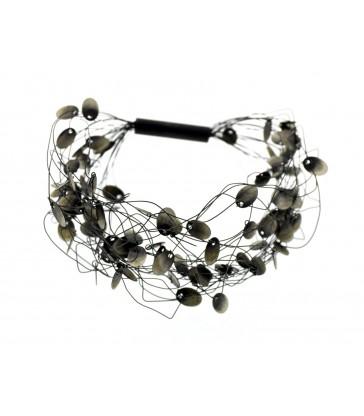 Collar Filamentos Plata