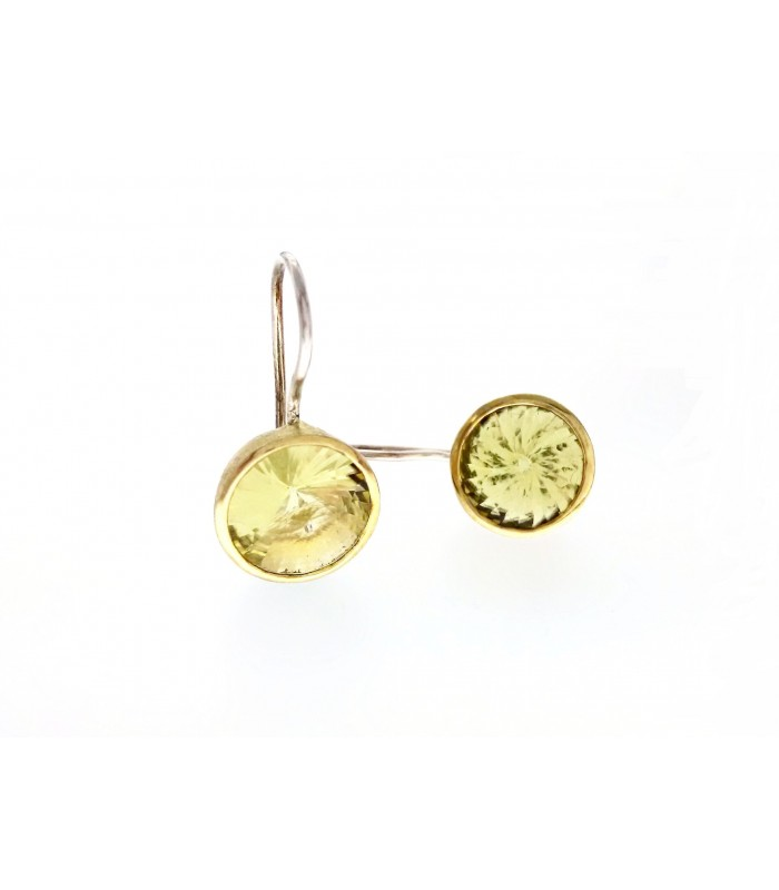 and silver from sterling design gemstone jewelry colors citrine earring lemon real peridot in earrings natural small simple quartz tbj item