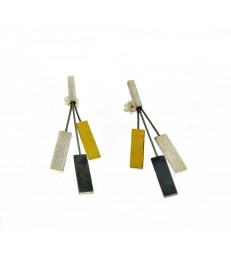 Tricolor Earrings