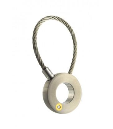 Keychain titanium, Gold, Diamond