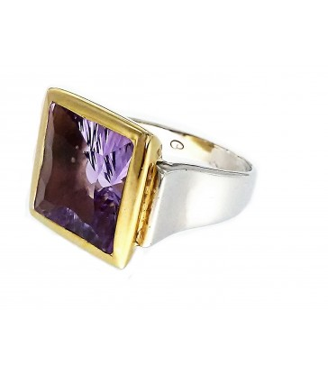 Square Amatist Ring