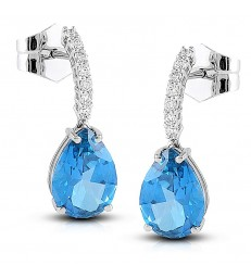Blue Topas Earrings